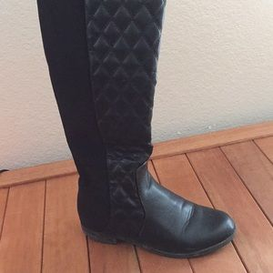 Quilted Over the Knee Boots